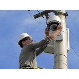 instalação kit cameras de segurança Res. Santa Maria