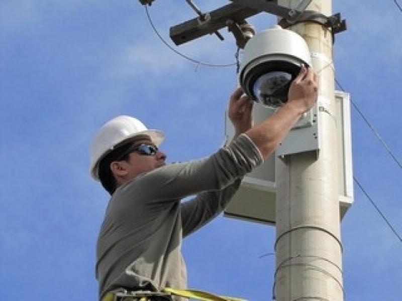 monitoramento à distância de câmeras